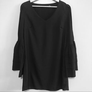 Ark & Co Black Tunic-Sleeves with Tucks and Flare